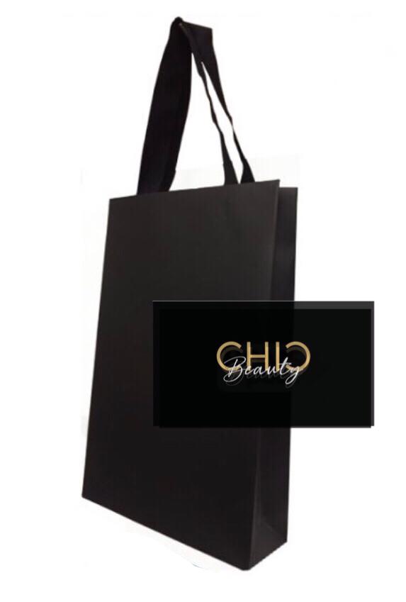 Bolsa negra de lujo para regalo + tarjeta 100 gr
