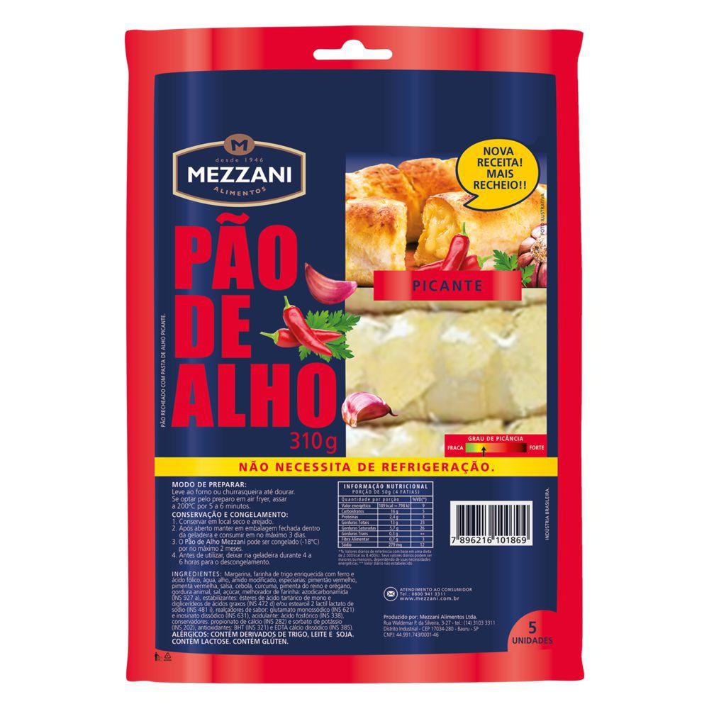 Pão de alho picante sem refrigeração