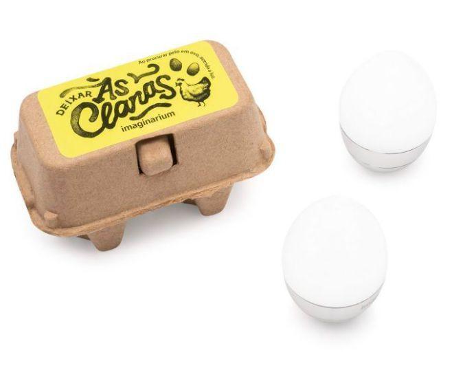 Luminaria caixa de ovos deixar as claras