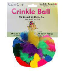 Crinkle ball cat toy 2.5 inches