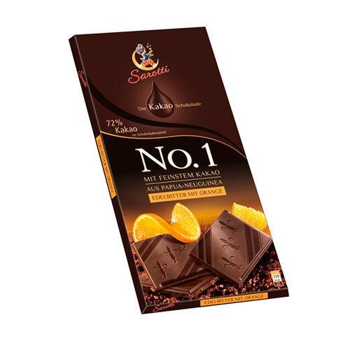 Chocolate amargo con naranja