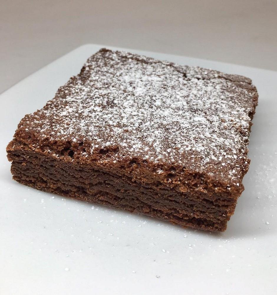 Trozo de brownie artensanal un