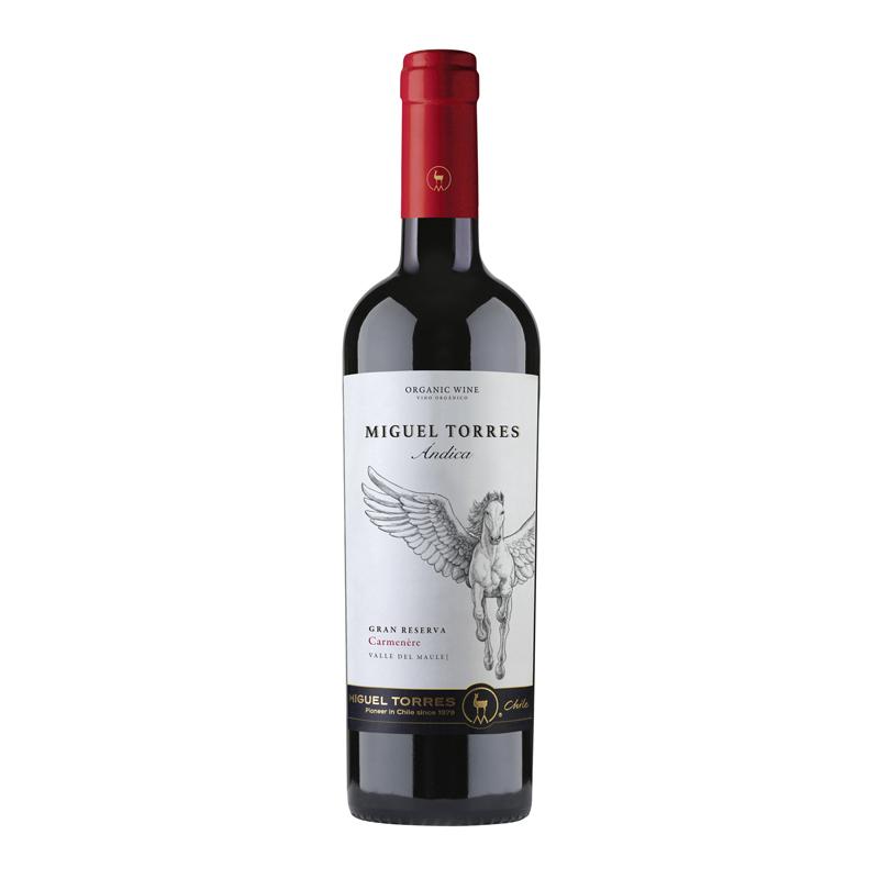 Vino Andica carmenère gran reserva Botella 750 ml.