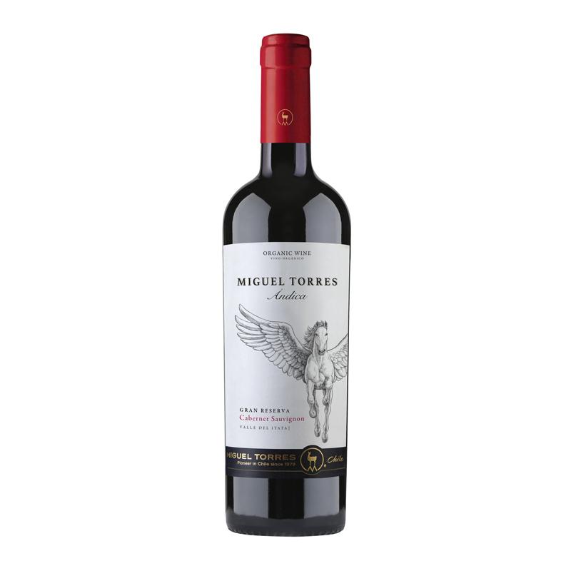 Vino Andica cabernet sauvignon gran reserva Botella 750 ml.