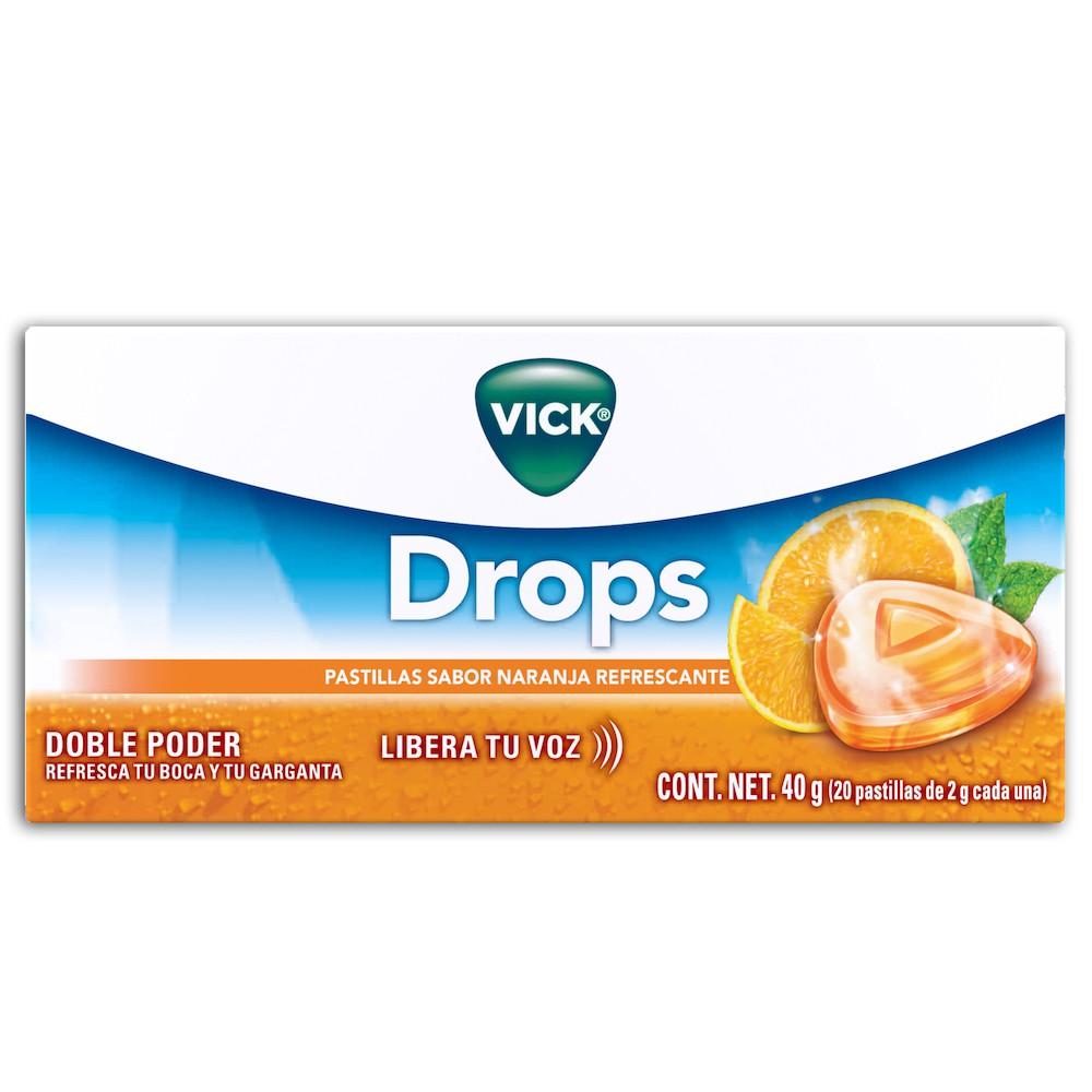Vick drops naranja