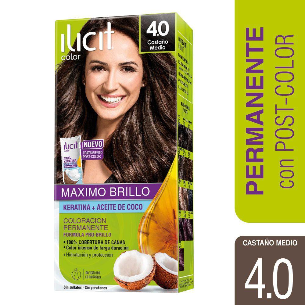 Coloración crema para cabello color castaño medio
