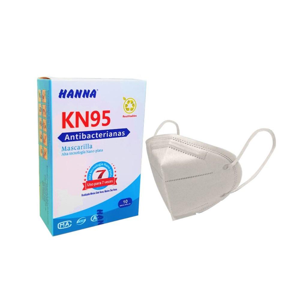 Mascarilla KN95 Antibacteriana Con Nano Plata + Regalo 30 ml Alcohol Gel al 70%.