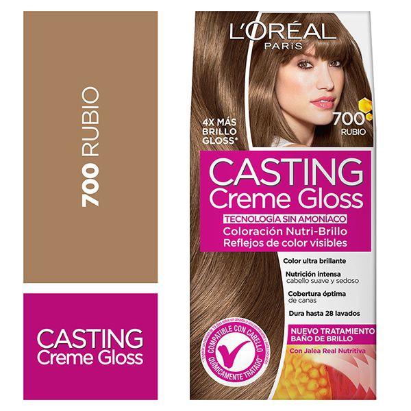Tintura capilar Creme Gloss rubio 700