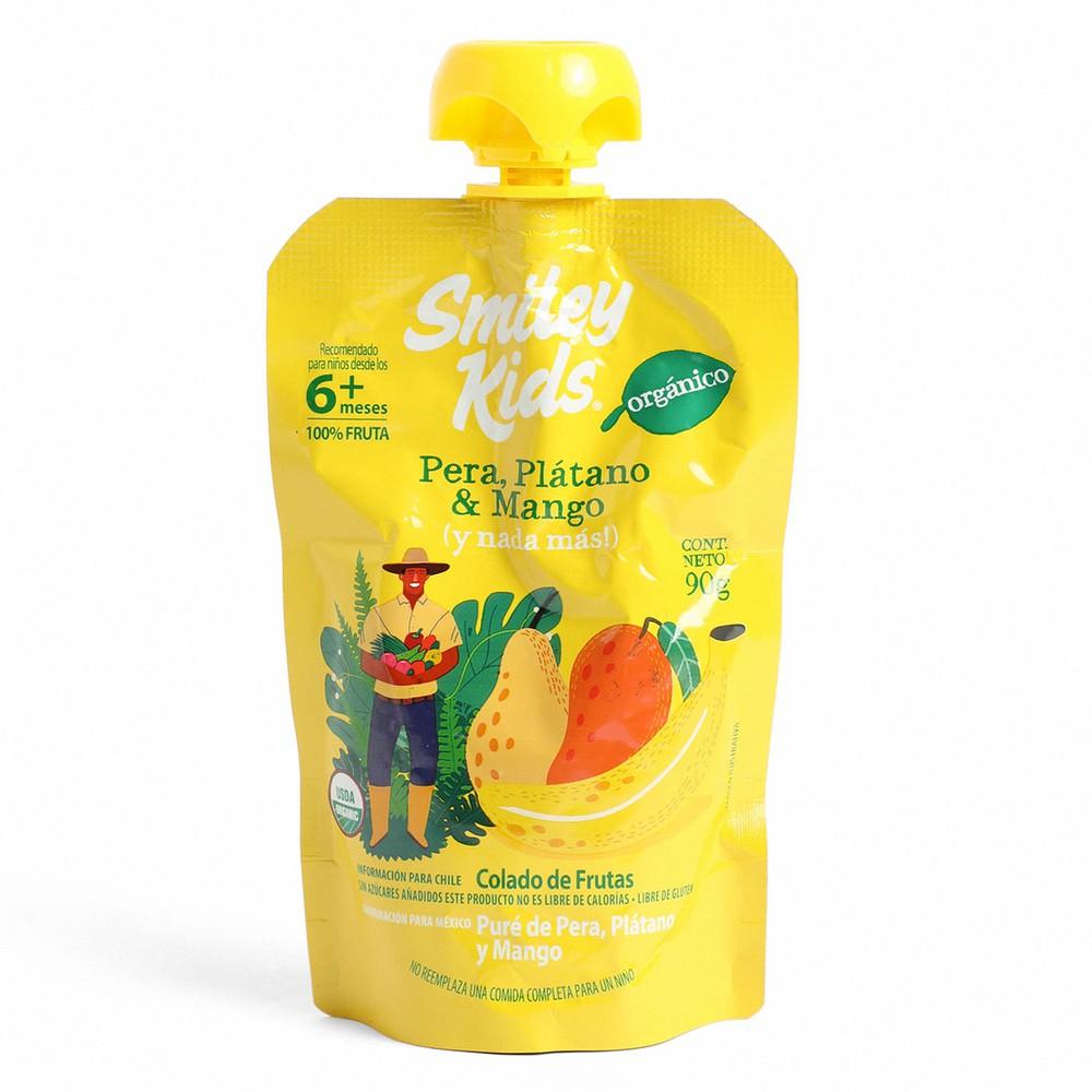 Puré Orgánico de Pera + Plátano + Mango 113 g