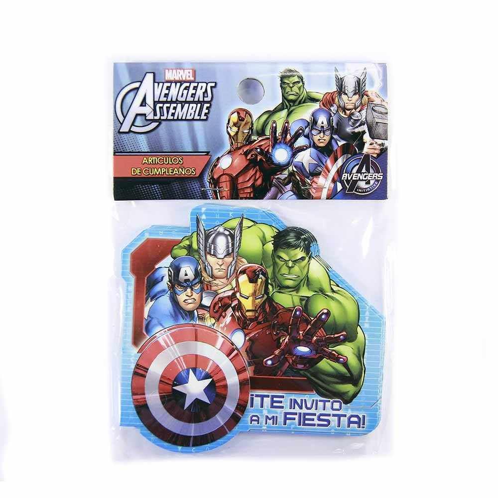 Tarjetas De Invitación Avengers Cornershop
