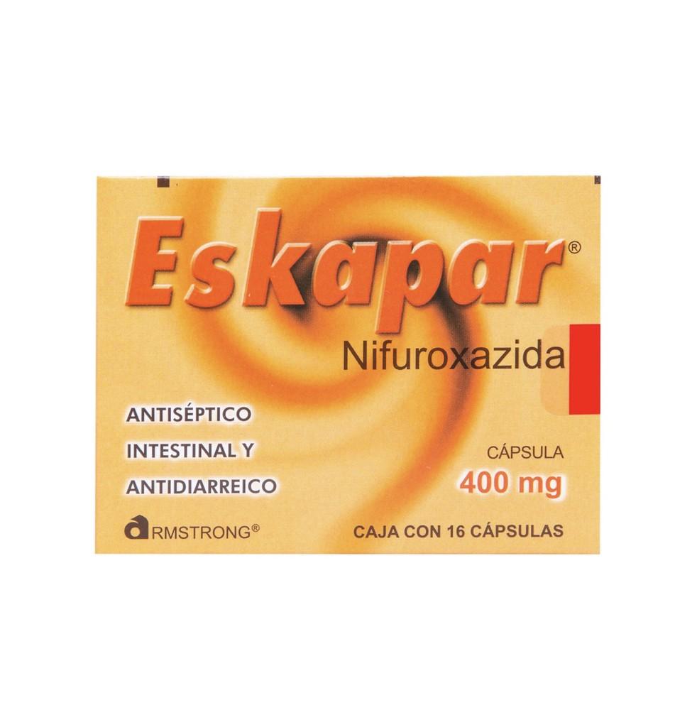 Eskapar cápsulas nifuroxazida 400 mg