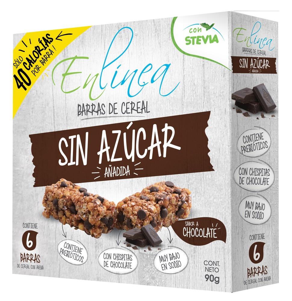 Barra cereal sabor chocolate
