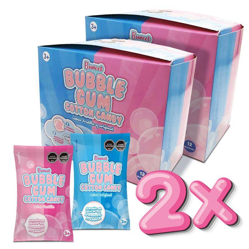 2x chicle algodón de azúcar 12 uni
