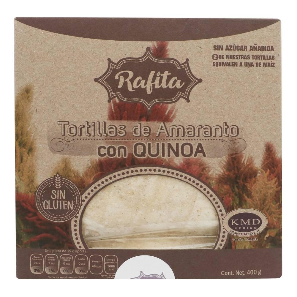 Tortillas de amaranto Rafita con quínoa, sin gluten 400 g