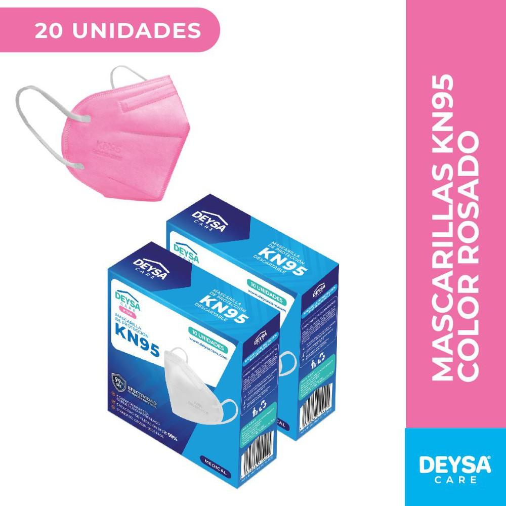 Mascarillas kn95, 5 capas, 10 un, 2 cajas (20un) Rosado. 10 unidades c/u