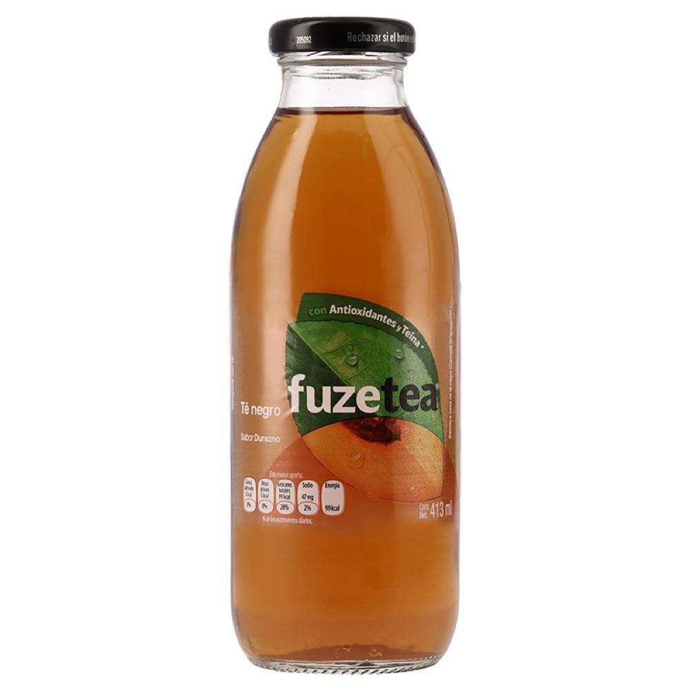 Té negro Fuze Tea sabor durazno 413 ml
