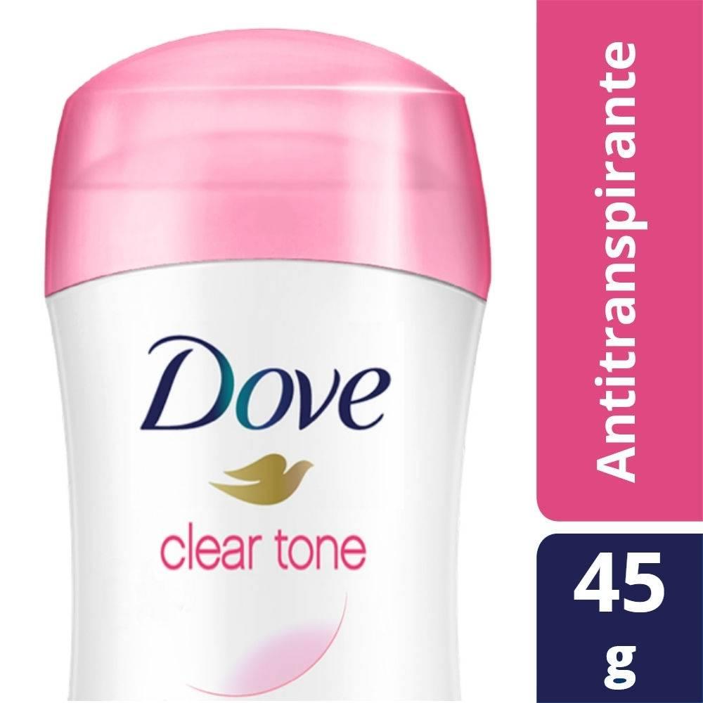 Antitranspirante Dove clear tone en barra para mujer 45 g