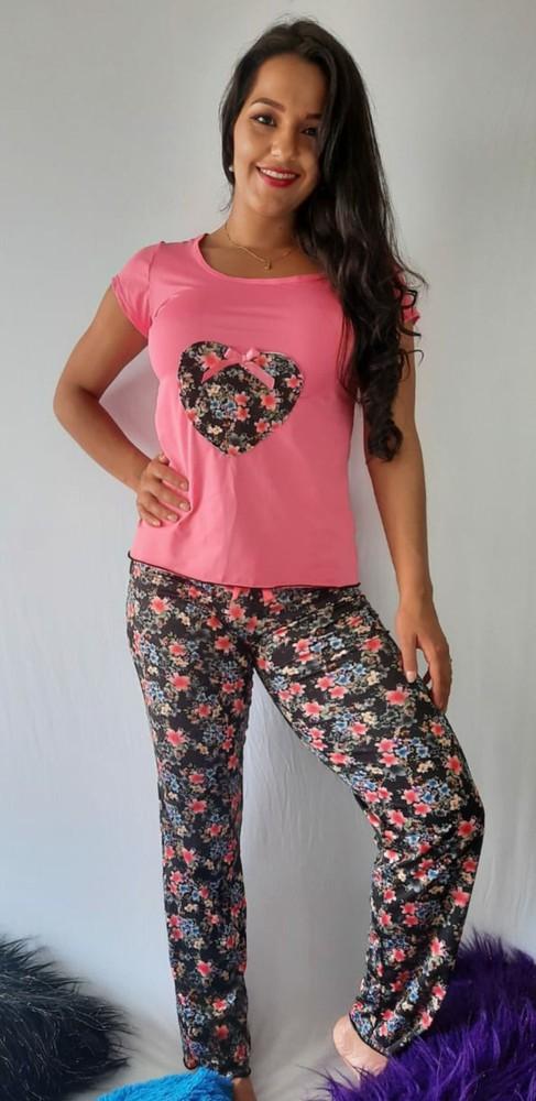 Pijama pantalón flores