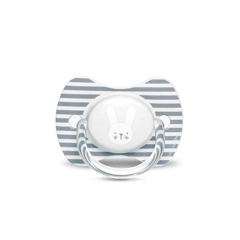 Chupete premium con tetina fisiológica silicona 6-18m hygge gris