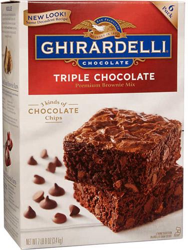 Mezcla brownie triple chocolate mix