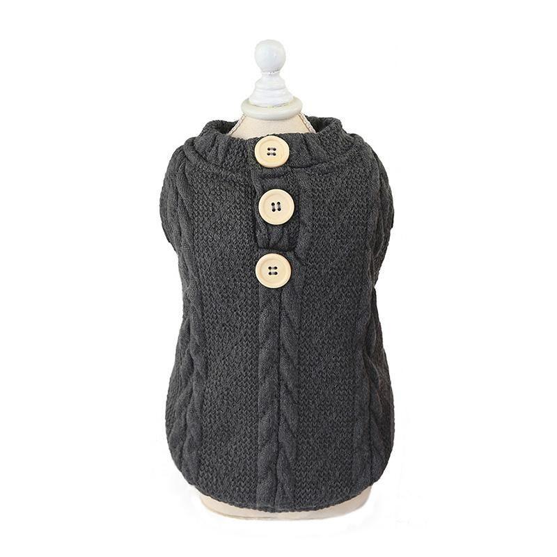 Sweater tejido gris (M)