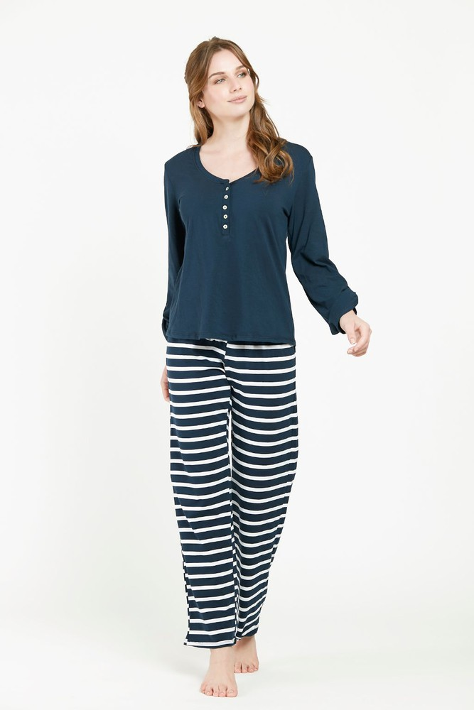 Pijama rayas ml azul l L