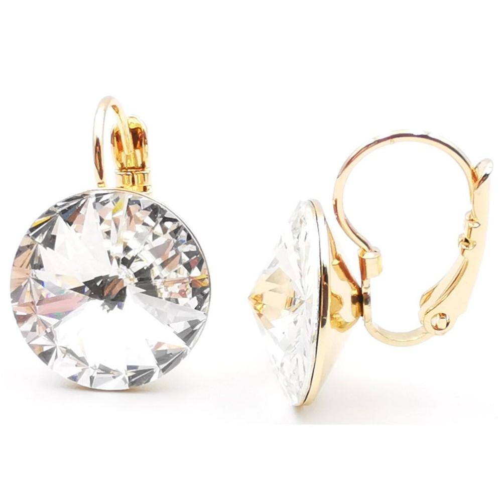 Aros Candelabro Swarovski sara k joyas regalos Cristal 1 cm. ; Largo 2 cm.