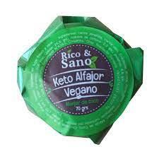 Alfajor keto vegano con manjar de coco 70 g 70 G