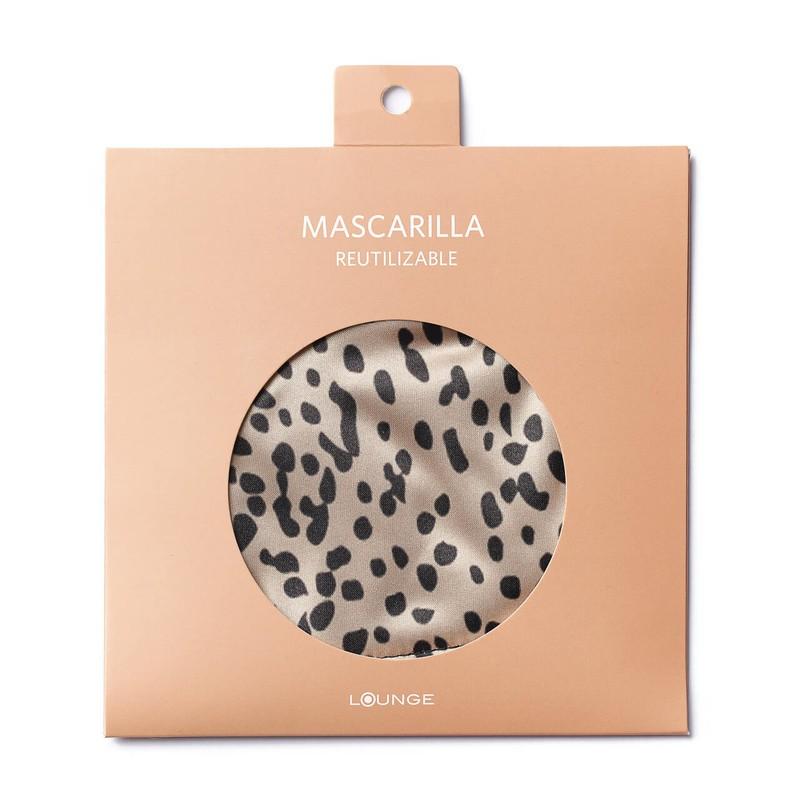 Mascarilla animal print beige Mascarilla: 24 cm de largo x 12 cm de ancho.