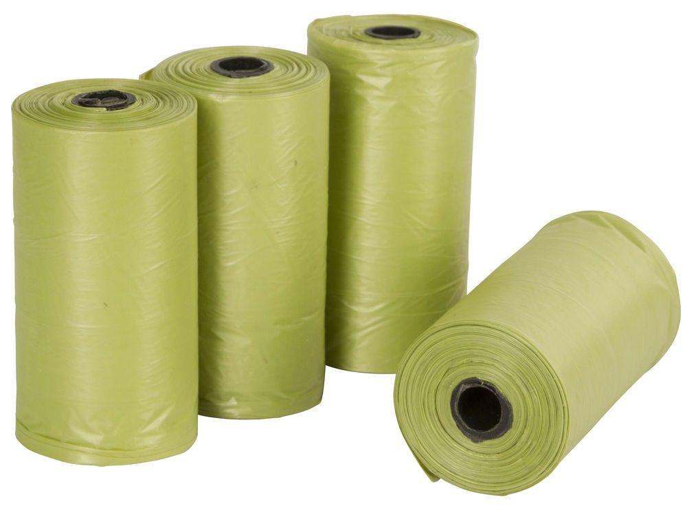 Bolsas biodegradables para fecas 6 rollos x 15 bolsas c/u 6 UNIDADES