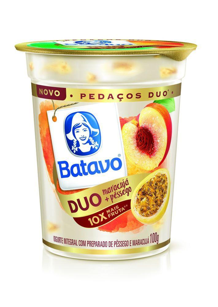 Iogurte com pedaços Duo maracujá e pêssego