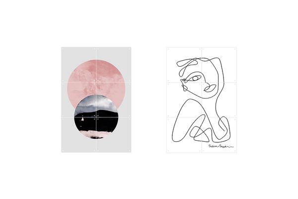 Mural minimalistic mind doble cara 1