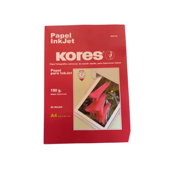 Papel fotografico inkjet autoadhesivo brillante 130 gr. tamaño A4 20 hojas