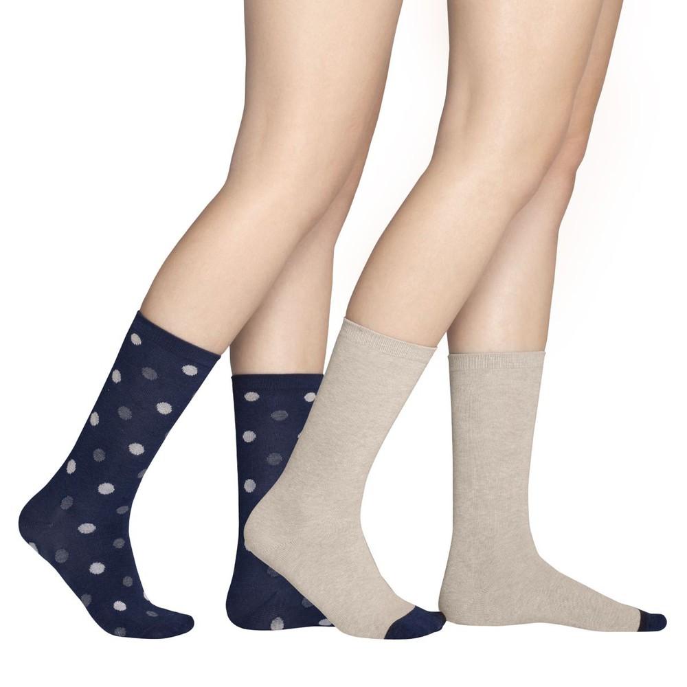 Pack 2 calcetín puntos azul