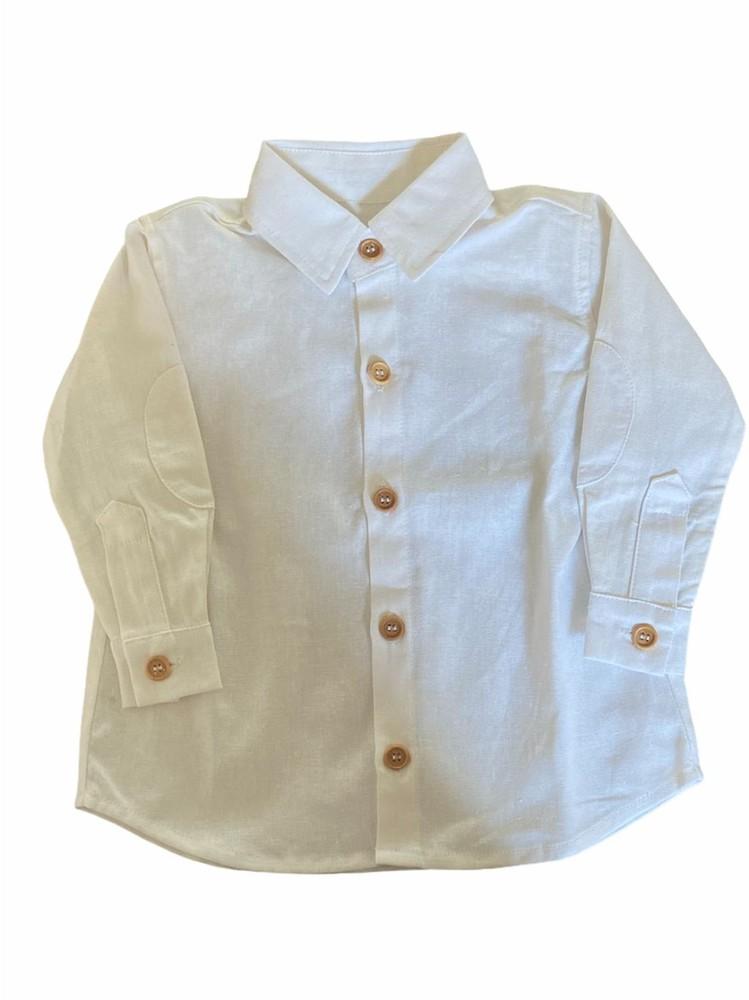 Camisa de lino borja blanca talla 4
