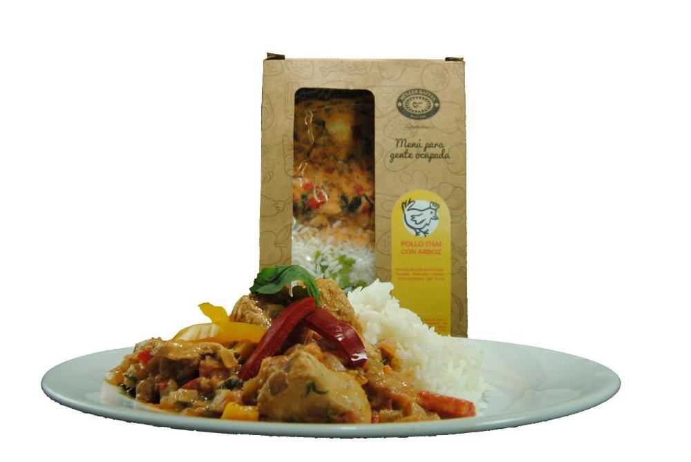 Pollo thai con arroz Plato individual