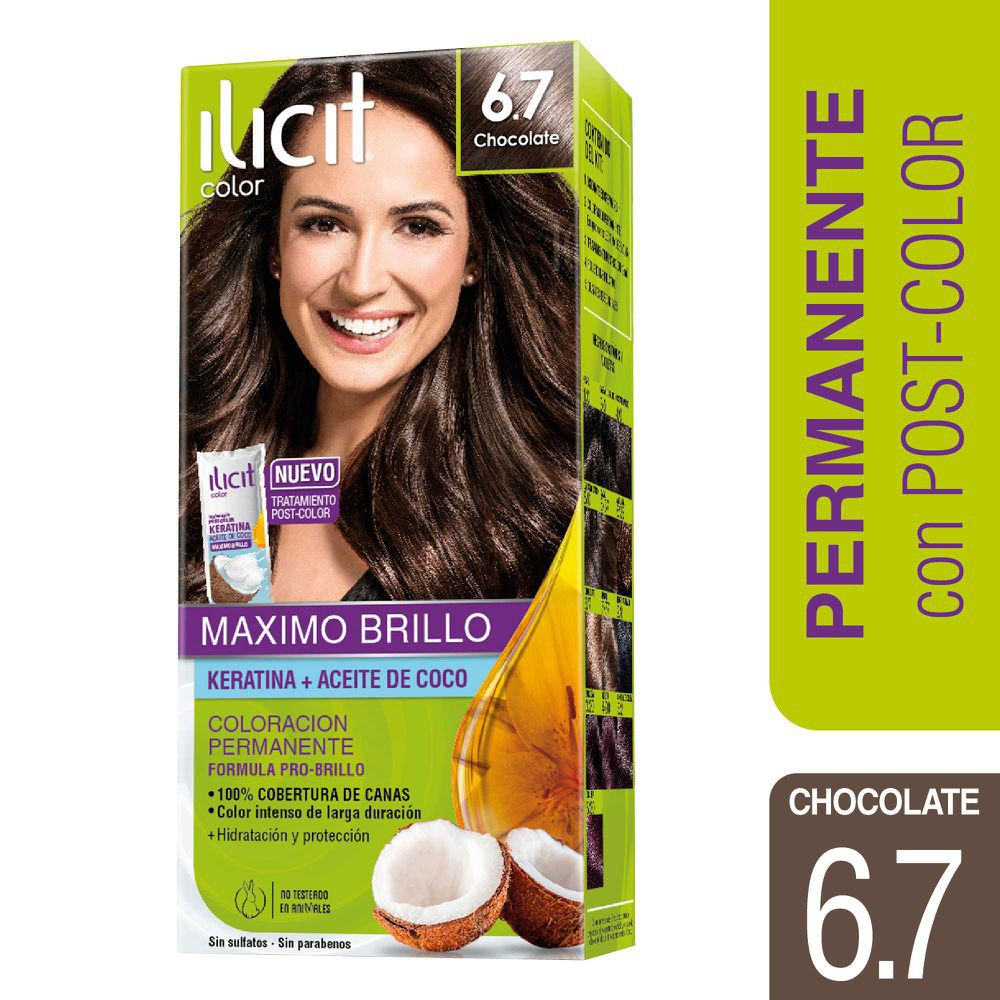 Tintura crema para cabello color chocolate