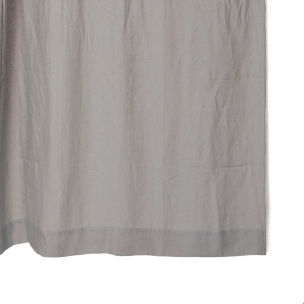 Cortina de baño lino gris 180x190