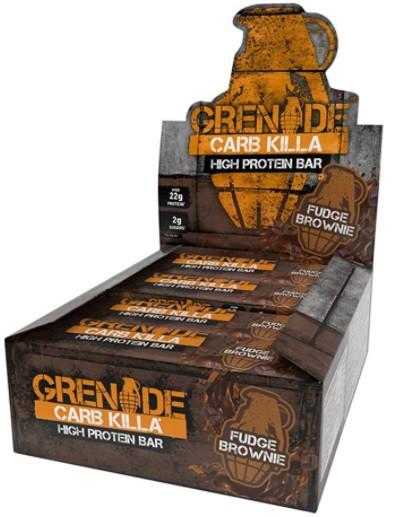 Carb killa protein bar fudge brownie 12ct
