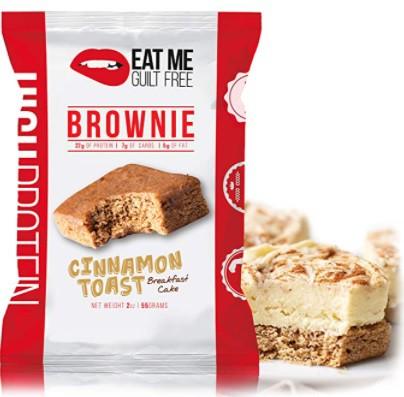 High protein cinnamon toast brownie