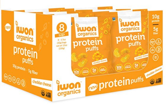 Protein puffs cheddar cheese