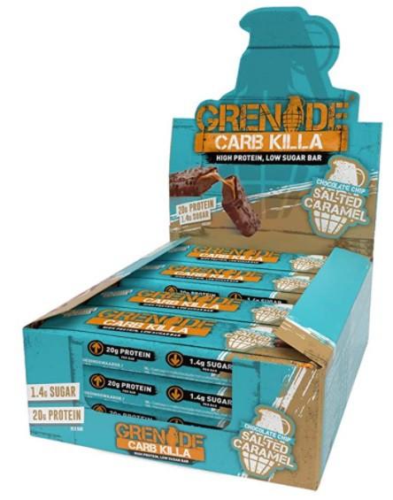 Carb killa protein bar chocolate chip salted caramel