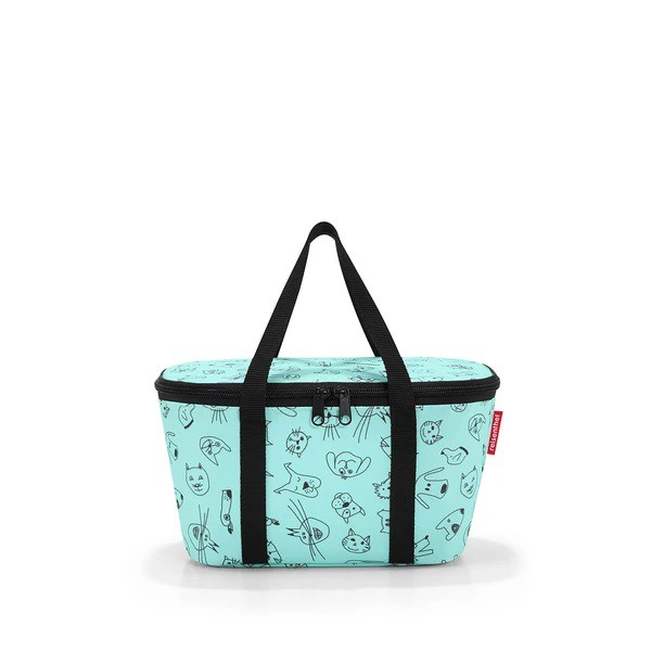 Mini cooler - coolerbag xs kids cats and dogs mint