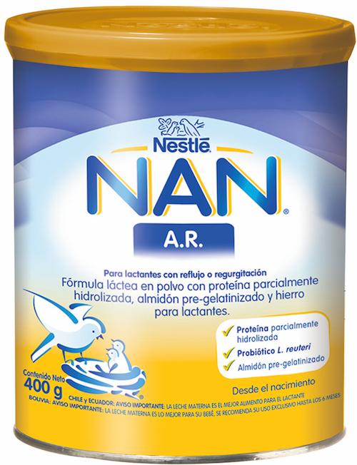 Formula lactantes con reflujo Nan A.R.