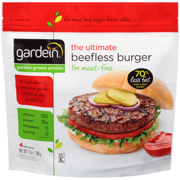 Hamburguesa vegana sabor carne congelada Bolsa 340 g