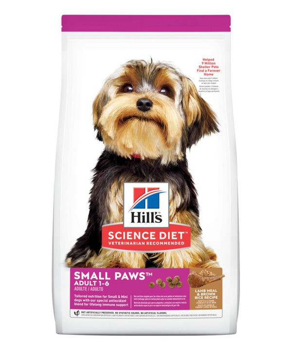 Alimento seco para perro adulto Small Paws cordero y arroz Bolsa 2 kg