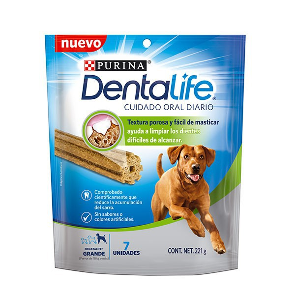 Dentalife cuidado oral diario razas grandes snacks para perros 7 u x 221 g