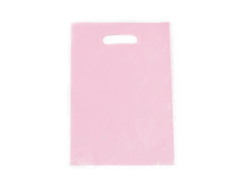Bolsa cumpleaños lisa rosada x 10