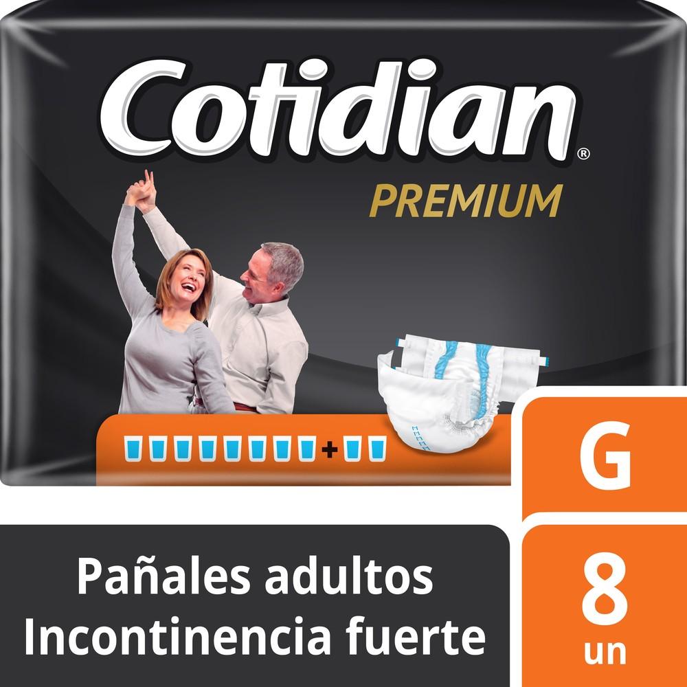 Pañal adulto premium incontinencia fuerte talla G