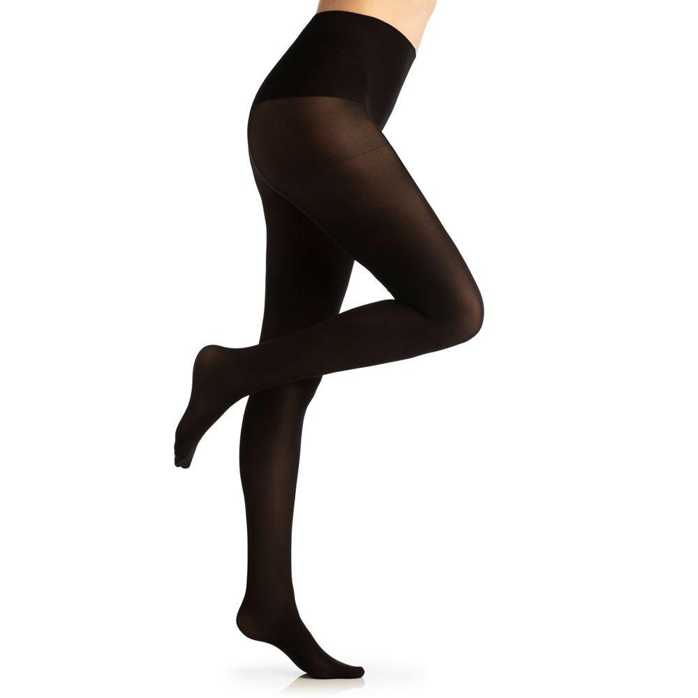 Panty soft opacc cintura invisible color black Talla 3